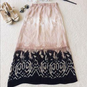 ‼️HeartSoul Pink & Black Maxi Skirt
